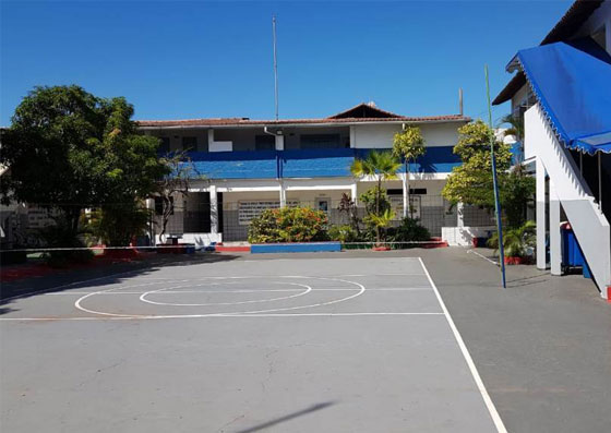 Pátio da escola Rui Barbosa